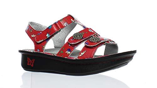 Alegria Womens Kleo Gladiator Sandal Red Buds Size 35 EU (5-5.5 M US Women)
