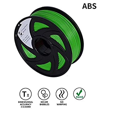 LEE FUNG 1.75mm ABS 3D Printing Filament Dimensional Accuracy +/- 0.05 mm 2.2 LB Spool DIY Material Tools (Green)
