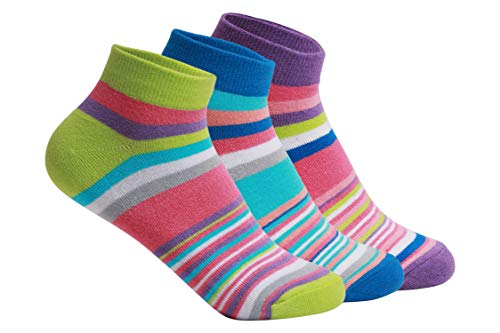Supersox Women's Ankle Length Combed Cotton Socks (Pack of 3) (WCCD-NCY-3S-3_Multicolored)