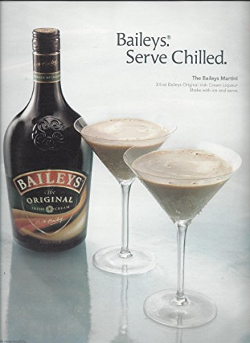 MAGAZINE ADVERTISEMENT For 2005 Baileys Irish Cream: Baileys Martini Scene
