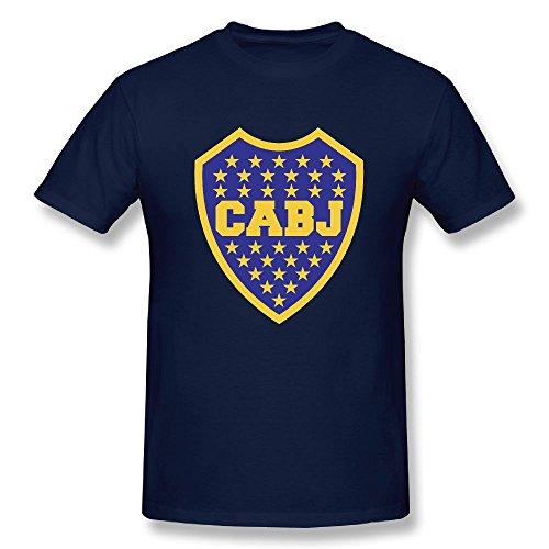 Boca Juniors Soccer Men's Short Sleeve Classic Cotton Navy 3X ()