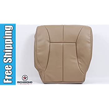 2001 Dodge Ram 2500 SLT Laramie Driver Side Bottom Replacement Leather Seat Cover Tan