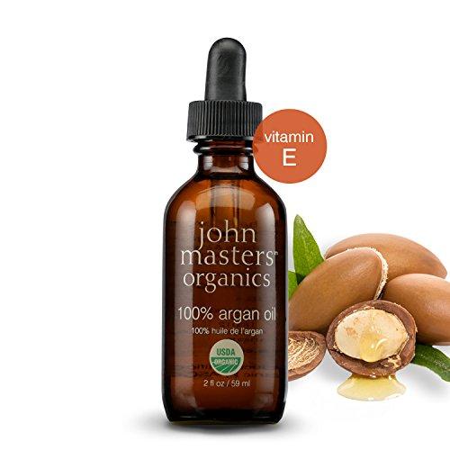 John Masters Organics - 100% Argan Oil - USDA Certified Organic Extra Virgin Argan Oil with Vitamin E for Dry & Damaged Skin & Hair 2 oz
