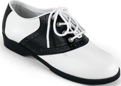 Funtasma Saddle - Funtasma by Pleaser Little Kid/Big Kid Saddle Dress,Black/White,Medium (US Little Kid 13-1 M)