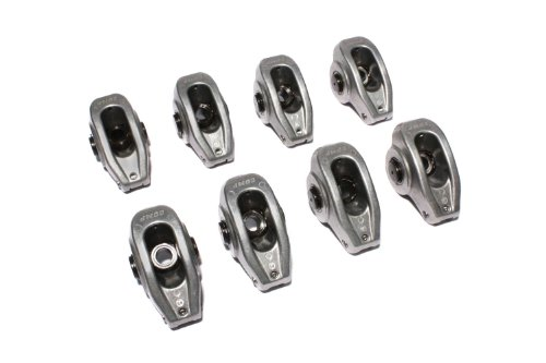(COMP Cams 17004-8 High Energy Die Cast Aluminum Roller Rocker Arm with 1.5 Ratio and 7/16