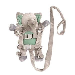 Walking Harness and Reins, Toddler Safety Harness, Adjustable Kids Walking Assistant (Elephant)