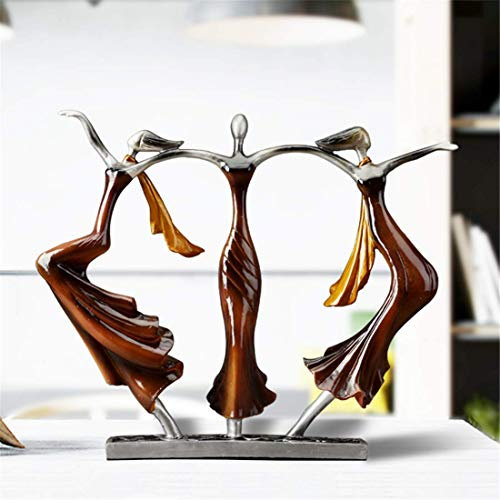- Resin Crafts Home Decoration Modern Resin Sculpture Artwork Art Decoration Three Dancing Girls - Creative Figurines Desk Ornaments Statue Living Room Café Bar Decor Man Woman Kids Gifts