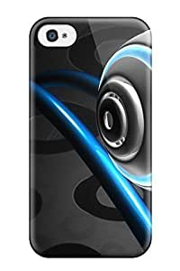 Defender Case For Iphone 4/4s, 3d Cgi Abstract Cgi Pattern