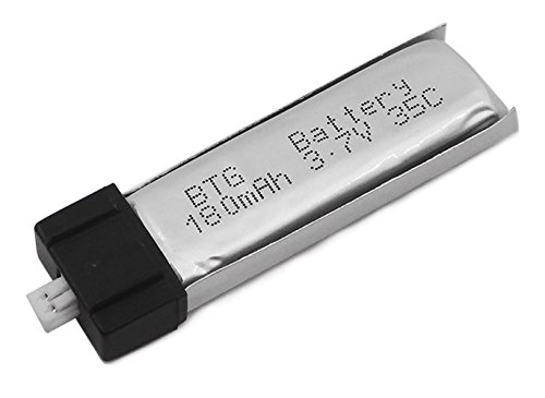 BTG 1S 3.7V 180mAh 35C Upgrade Li-po Battery (3CPS) + 5 in 1 Charger Cable for Blade Nano QX Nano CPX MCX MCX2 MSR MSRX and UMX AS3Xtra