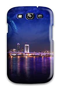 New Arrival Premium S3 Case Cover For Galaxy (city Nights Dreamy World)