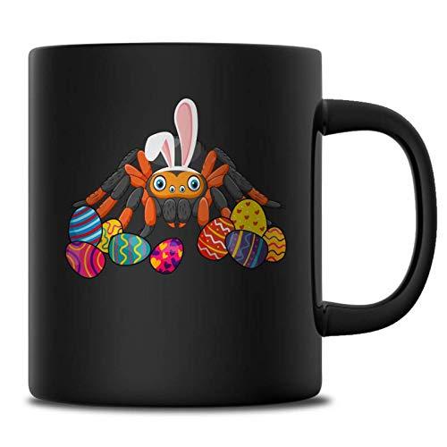 Spider Easter Bunny Ears Costume Mug For Women Girls, Happy Easter's Day Spider Lovers Mugs, Funny Spider Easter Eggs Gift Ideas, 11 oz Black Mug]()