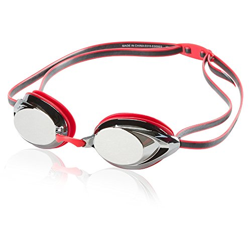 Profile Step - Speedo Vanquisher 2.0 Mirrored Swim Goggle, Red, One Size