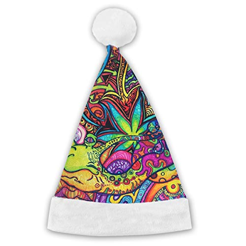 Holiday Christmas Halloween Santa Hat Wallpaper Abyss Festive Holiday Party Hat With White Cuffs For Kids -