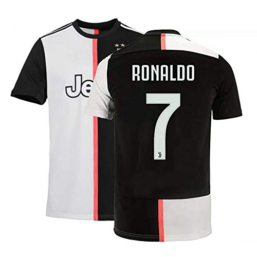 Beermiaud Mens Ronaldo Jersey 7 Home 2019/2020 Adult Soccer Cristiano Sizes Black (Medium) ()