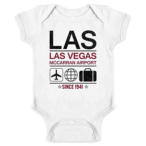 LAS Las Vegas Airport Code Since 1941 Travel White 18M Infant Bodysuit