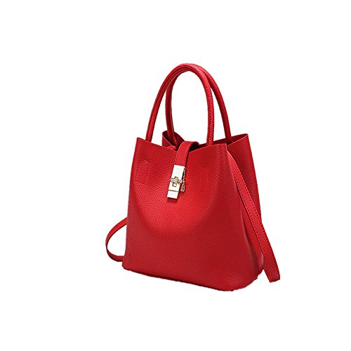 été nouvelle mode microfibre portable à en sac en sac en mère red Messenger 2018 DIUDIU printemps main sacs buckle cuir et sauvage seau TnIXgx