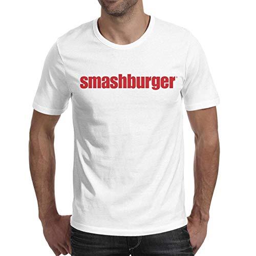 XYHBMNPQ Men's Smashburger Logo Short Sleeve T Shirts Crew Neck Essential Breathable T-Shirts
