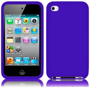 Soft Gel Silicone Skin Case Cover for Apple iPod Touch 4G, 4th Generation - (Ipod Touch Skin Cases)