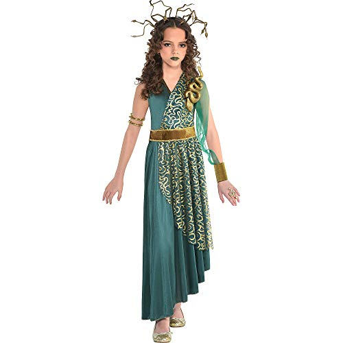 Suit Yourself Medusa Halloween Costume for Girls, Medium, Includes Dress and Headdress