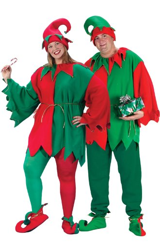 Fun Christmas Costumes (Fun World Costumes Plus-Size Plus Size Elf Costume, Red/Green,)