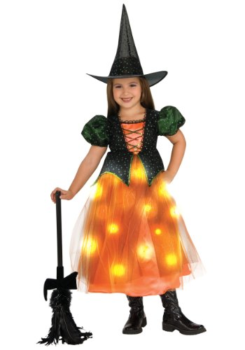 Child's Twinkle Witch Costume with Fiber Optic
