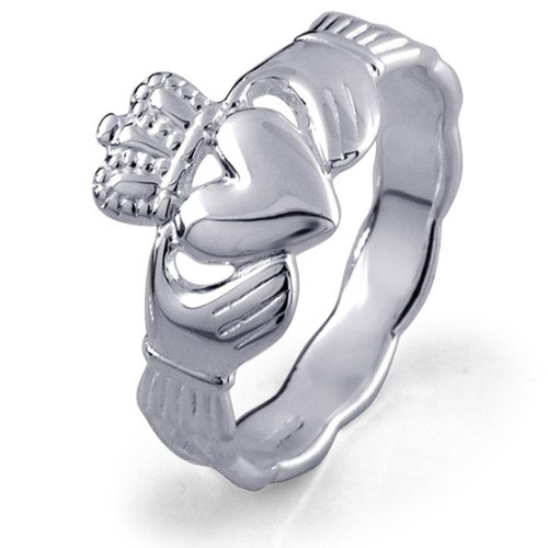 Claddagh Ring LS-RS671 - Size: 8 Made in Ireland.