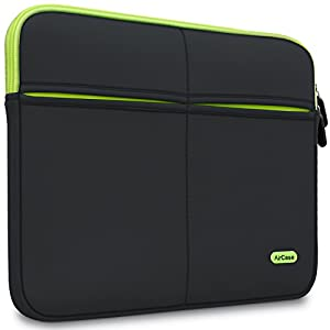 AirCase 15-Inch to 15.6-Inch Laptop Sleeve, Premium , Suave, 6-MultiUtility Pockets (Black)