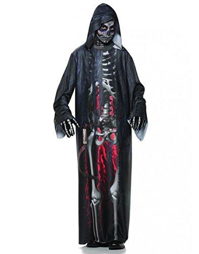 Underwraps Big Boy's Boy's Grim Reaper Costume, Photo Real, Medium Childrens Costume, Multi, (Easy Grim Reaper Costume)