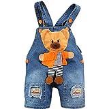 bear blue jeans romper