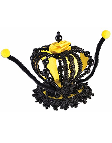 Queen Bee Bumblebee Mini Crown Hat Yellow Black