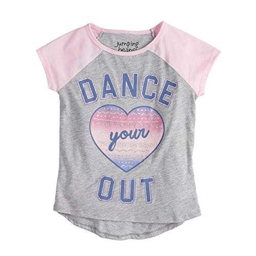 (Jumping Beans Little Girls' 4-12 Dance Your Heart Out Tee 12 Heather)