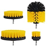 SU&YUDrill Brush Scrub Pads 8 Piece Power Scrubber Cleaning Kit All Purpose Cleaner Scrubbing Cordless Drill for Cleaning Pool