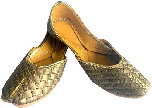 Step n Style mujeres plano Khussa Zapatos Punjabi jutti Plain tradicional mojari Bailarina Bombas