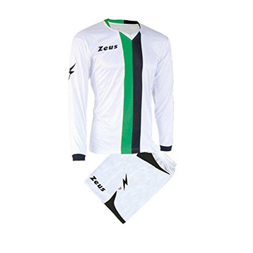 Zeus Herren Kinder Set Trikot Shirt Hosen Klein Armel Kit Fußball Hallenfußball Kit B-NARIO GRÜN SCHWARZ (M)