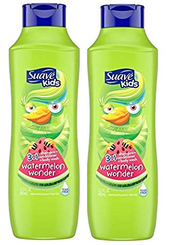 Suave Kids 3 in 1 Shampoo, Watermelon 22.5 ounce each (2 Pack)