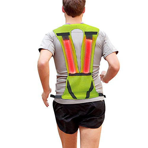 Gear Vest (Reflective Vest, Safety Light Running Reflective Gear Vest, Night Safety High Visibility Reflector with Pocket Adjustable, Lightweight, Weatherproof Gear For Jogging & Cycling by Higo)
