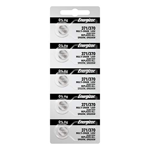 (Energizer 371 / 370 Silver Oxide Watch Battery (5 per Pack))