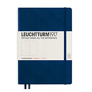 Leuchtturm Medium - Organizador personal A5, azul