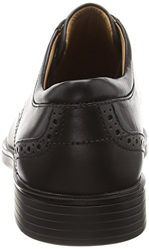 Scarpe Nero Un Stringate Black Clarks Aldric Derby Leather Uomo Wing A1wxqB
