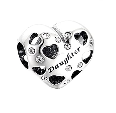925 Sterling Silver Daughter Charm