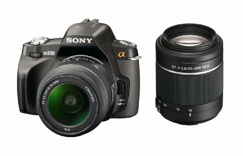 Sony Alpha A230Y 10.2 MP Digital SLR Camera with Super SteadyShot INSIDE Image Stabilization and 18-55mm and 55-200mm Lenses