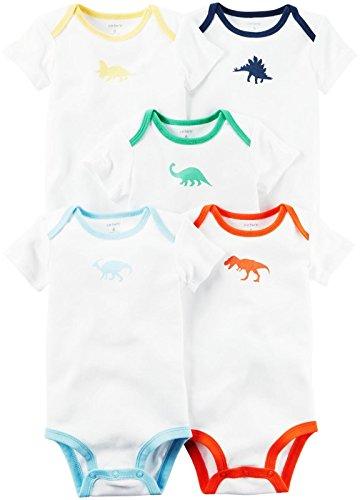 Carter's Baby Boys' Multi-PK Bodysuits 126g601, White Multi, - Designer Warehouse Clothing