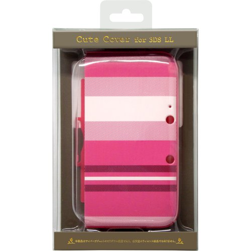 CYBER /cute cover (for 3DS LL) pink stripe [dedicated charger that can be used in ()
