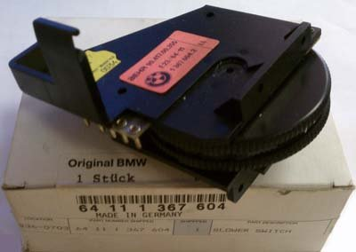 Oe BMW 7 Series E32 735i 733i Climate Control Blower Switch - 64111367604