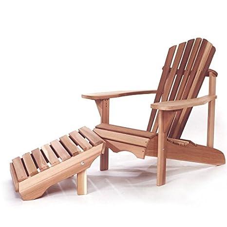 Conjunto silla silla y reposapiés Adirondack Otomano: Amazon ...