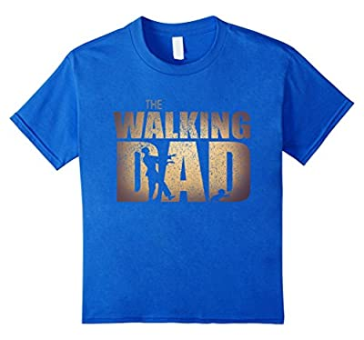 Walking Dad T Shirt, Funny father's day gift dad zombie
