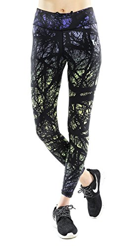 Jescakoo Women Graphic Pattern Print Comfy Yoga Leggings Fitness Tight Pants 03M (Colorful Running Tights compare prices)