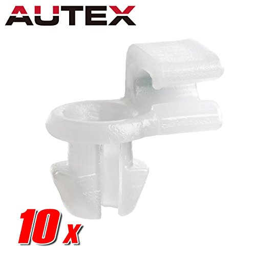 Lock Door Clip (AUTEX 10pcs Left Side Front Door Locks Handle Inside Snap- Lock Fastener Rivet Push Clips Retainer Nut for Honda Accord CR-V Element Insight Odyssey Pilot Prelude Ridgeline Acura CL MDX NSX TL)