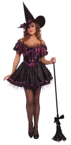 Forum Novelties Women's Amethysta The Witch Costume, Purple/Black, One Size (Bewitched Costume)