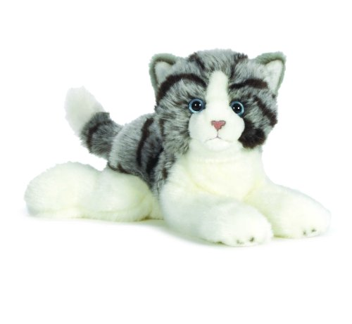Webkinz Smaller Signature Grey Tabby Cat (White Webkinz Cat)